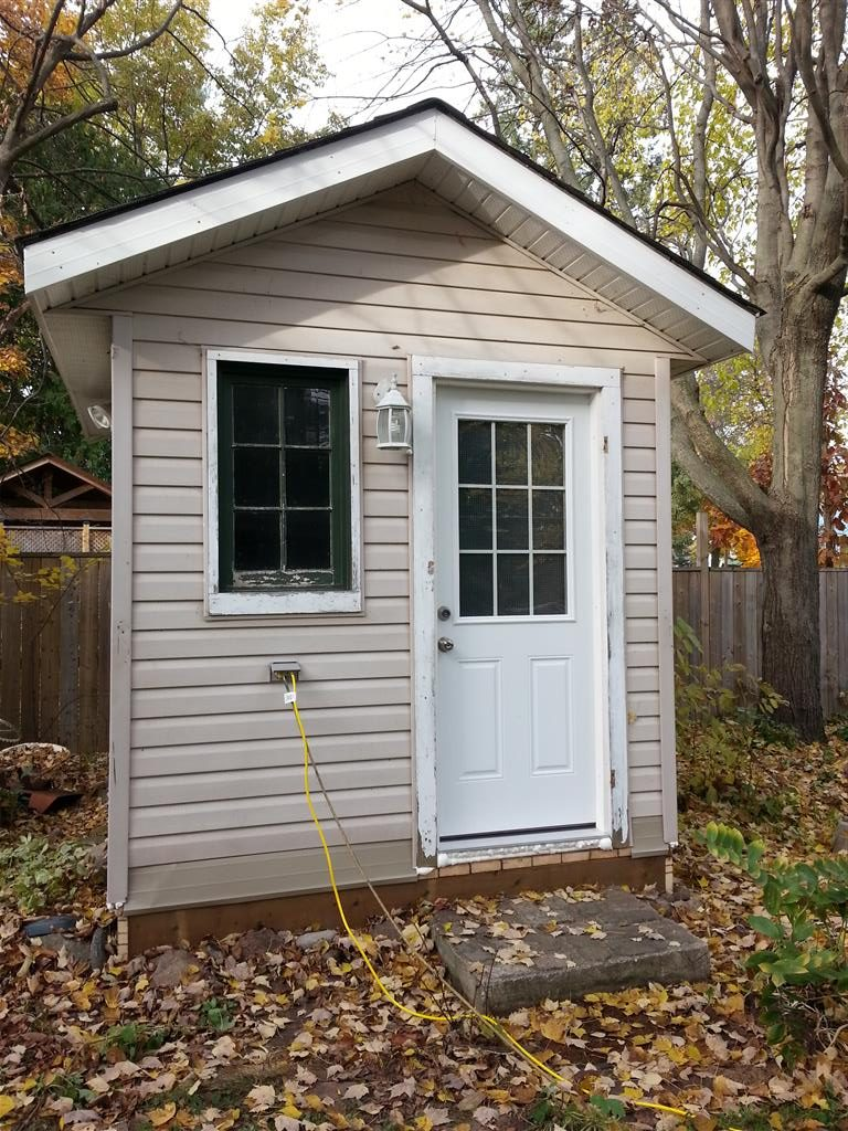 My secure outbuilding: 70 square feet of lockable storage I own and control. Awesome!