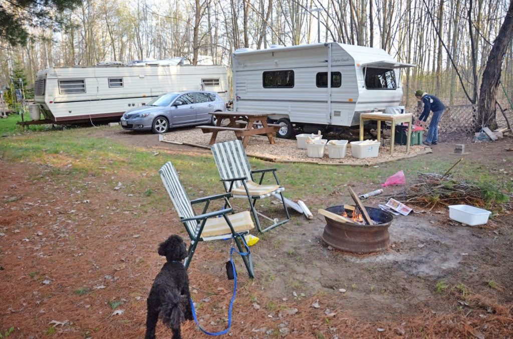 Campsite at New Lowell