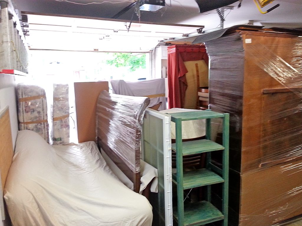 We stored some furniture in the garage of one of our rental properties