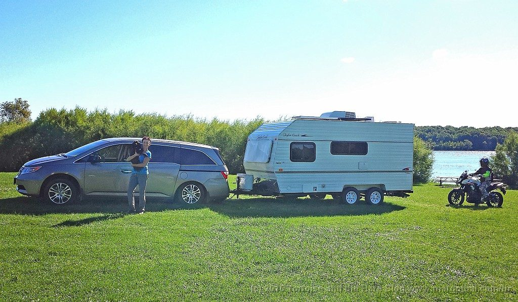 The Tortoise and the Hare on their waterfront site on the Long Sault Parkway