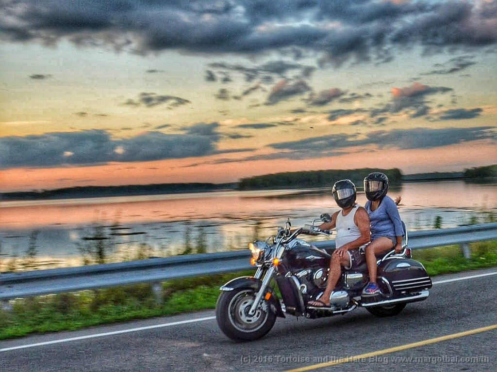 James caught this couple out for a sunset cruise