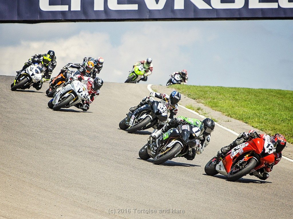 A great shot by James of the Pro Sportbike class cresting the hill just before turn #4