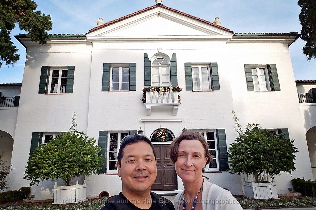 In front of the Crane Cottage (really, a mansion!). Built in 1917, it was the most expensive and elegant home built on Jekyll Island. It has since been converted to a restaurant. (More reading)