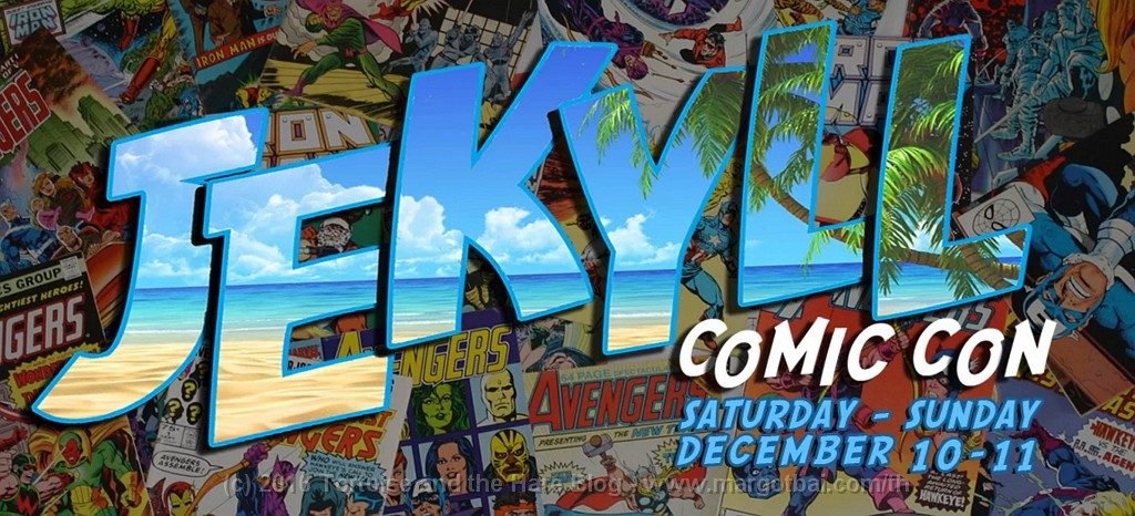 We attended the Jekyll Comicon which made the comic collecting kid inside James happy