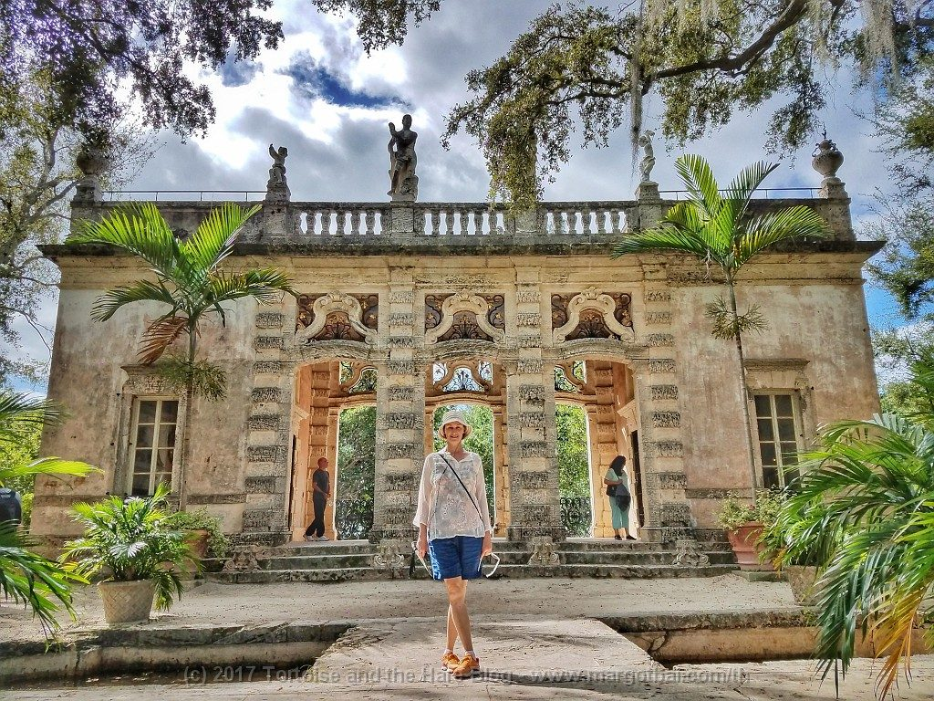 Exploring the beautiful gardens at the eclectic Villa Vizcaya