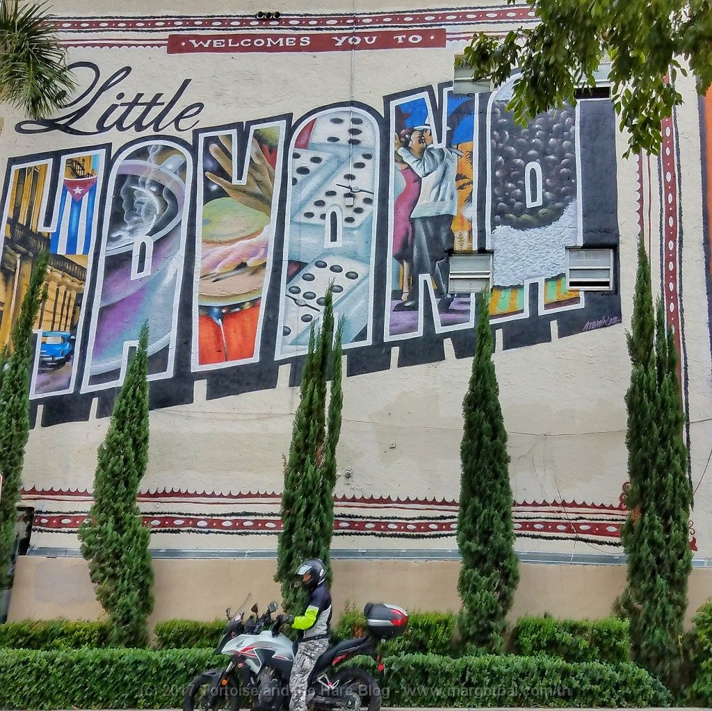Welcome to Little Havana. We could only get this photo when the traffic was light on a Sunday morning!