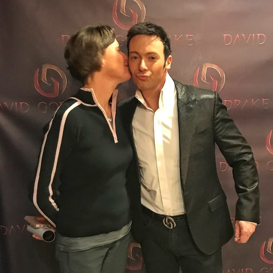 Stealing a kiss with the charming and amazing David Goldrakehellip