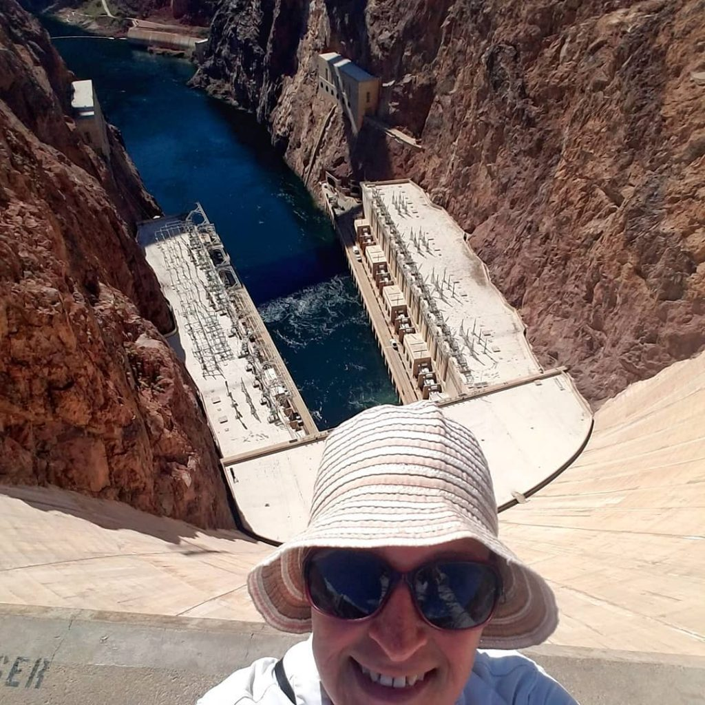 Dam I made it! Woohoo! rvlife nevada hooverdam
